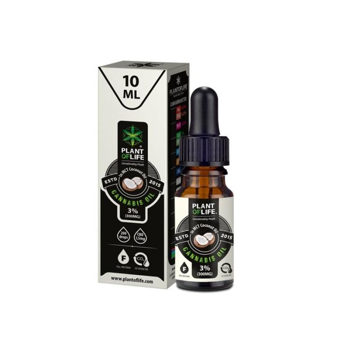 Plant Of Life CBD Oil Coconut MCT Oil 3% 10ml