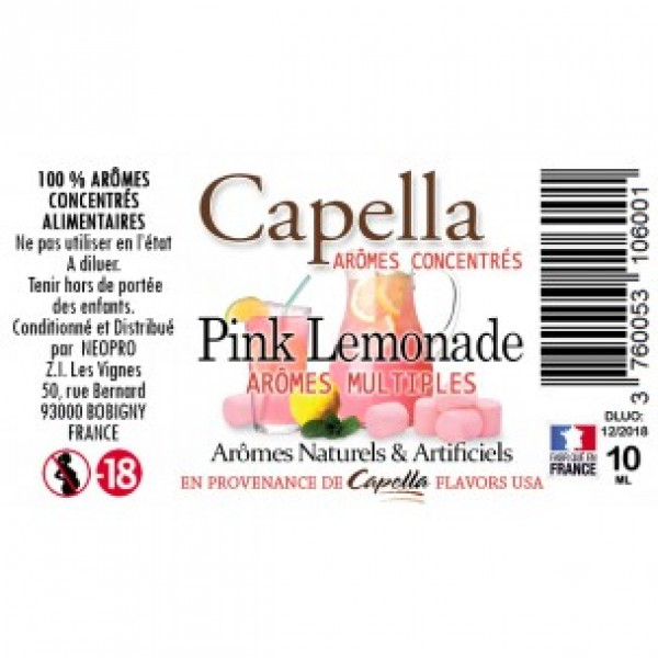 Capella Pink Lemonade Flavor 10ml