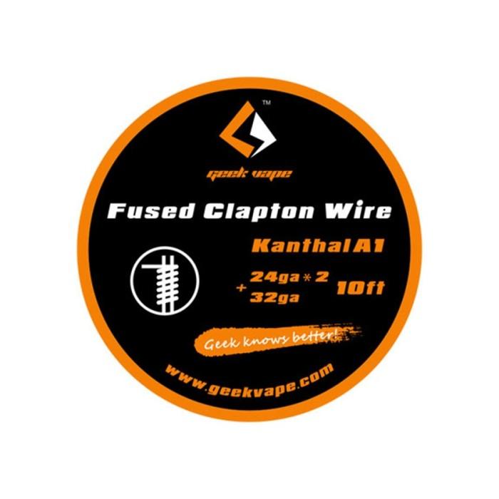 Geek Vape Kanthal A1 Fused Clapton Wire 24ga*2+32ga