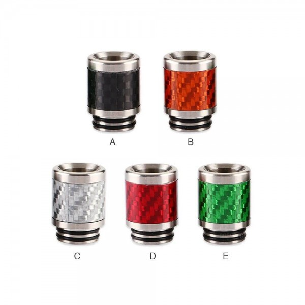 Drip Tip Stainless Steel Carbon Fiber 810 0306