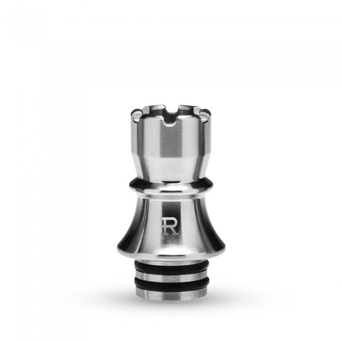 KIZOKU Chess Series 510 Drip Tip Silver Rook